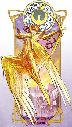 Saint Seiya, Sagittarius Aiolos, Gold Saints