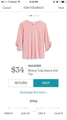 Stylist! I love this pretty blouse. My favorite color. Pretty sleeves.