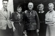 Erwin Rommel family photo on his wife's birthday