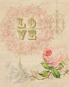 Vintage Love ~ Pink and Green