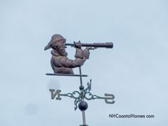 Portsmouth NH - Here's a real nautical themed weathervane. #weathervanes