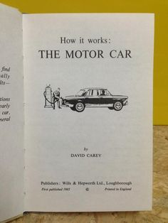 Via @Rupert Blanchard : Title page from 'how it works' the motor car, ladybird books 1965