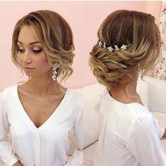Soft loose updo, draped updo, wedding hairstyles, wedding updo