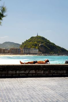 Zurriola Beach, San Sebastian. Had a marvelous time here and would love to go back when the film festival is going on.