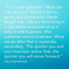 In business - This is critical today.  #customerservice #socialmediamarketingtips