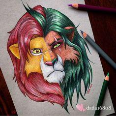 Simba e Scar - Foto: Reprodução/ Instagram