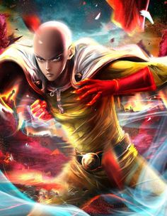 My drawing of Saitama from the anime One Punch Man ! Took me 2 weeks working on it on and off. This was my first time taking male anatomy seriousl. One Punch Man - Saitama Mega Anime, Super Anime, Anime One, Me Me Me Anime, Anime Guys, Anime Stuff, One Punch Man Manga, Wizyakuza Anime, One Punch Man Memes