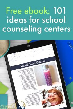 School Counseling Centers: free ebook with 101 ideas for school counseling center activities! Feelings activities, managing anger activities, mindfulness activities, career activities, self esteem activities, and more for your school counseling classroom guidance lessons!
