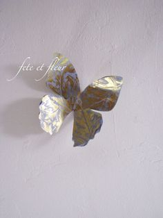 DIY Wired Paper Butterfly (Tutorial - just add magnet)