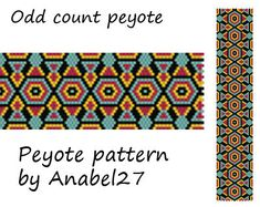 Peyote pattern 122 beadwork peyote cuff by ColorfulBeadPatterns