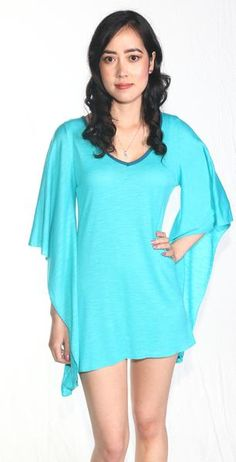 Ellie Mei Women's Blue Mini Dress .Cover-Up KHL-EM26  #elliemei #blueminidress #bluetop #comfortabledress #hawaii #freeshipping #fashionshowtop #fw