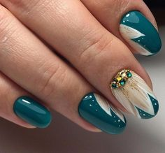 50 beautiful gel nails ideas for every occasion - Nail Designs Nail Art Hacks, Gel Nail Art, Nail Manicure, Cute Nail Art, Cute Nails, Pretty Nails, Hair And Nails, My Nails, Simple Gel Nails