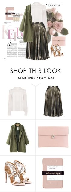 """""""trickytrend"""" by meji-maji ❤ liked on Polyvore featuring Topshop, Alexander McQueen, Aquazzura, Atelier Cologne, Chloé, women's clothing, women's fashion, women, female and woman"""