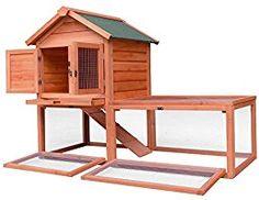 "Merax Pet Supplies Wood House Rabbit Hutch Outdoor Run, 56""L X 25.6""W X 39""H"