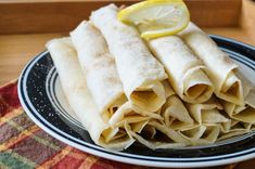Pannekoek (South African Crepes with Cinnamon Sugar) - Tara's Multicultural Table Thin Pancakes, South African Recipes, Crepes, Cinnamon, Sugar, Dishes, Baking, Breakfast, Canela