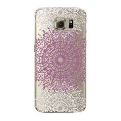 Colorful Floral Paisley Flower Mandala Henna Clear Case For Samsung Galaxy S6 Silicone Soft Cover Fundas