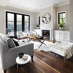 Kivik Couch Dark Floors Light Rug Dark Coffee Table