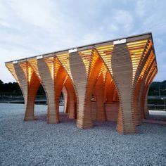 West Fest Pavilion by Gramazio & Kohler: http://www.archello.com/en/project/west-fest-pavilion-0