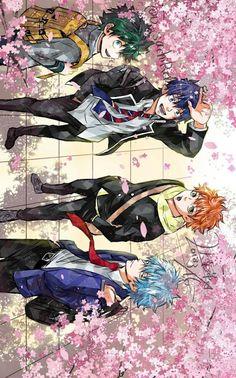 Mar 2020 - Yaoi, Fluff, Ships, AUs, and crossovers of BNHA pics! Fanarts Anime, Manga Anime, Anime Art, All Anime Characters, Anime Films, Rin Okumura, Deku Anime, Blue Exorcist Anime, Anime Lindo