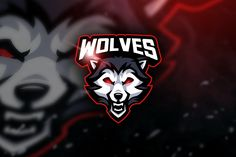 , Wolves - Mascot & Esport Logo- Suitable for your design needs, All elements on this template are editable with adobe illustrator! Wolf Warriors, Esports Logo, E Sport, Name Logo, Animal Heads, Creative Logo, Logo Templates, Design Templates, Logo Nasa
