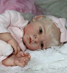 Beautiful Blonde Reborn Baby from Tamara Auty of Flutterby Hearts Reborns