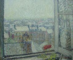 Roof Top View from Artist's Studio  -  Gustave Loiseau  French, 1865-1935