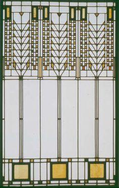 Design for window, Frank Lloyd Wright, Darwin D. Martin House, Buffalo, NY, 1903. 44 ¾ x 29 5/8