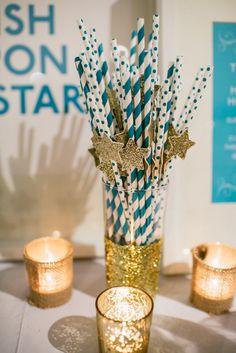 Wish Upon A Star Themed Baby Shower via Kara's Party Ideas KarasPartyIdeas.com #starparty #wishuponastar #starbabyshower (12)