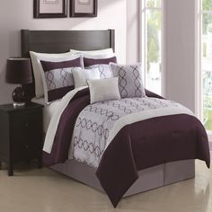 Cole Plum Comforter Set. Before $89.97 Now $59.97  #LuxBed #Specials
