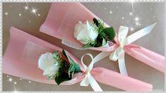 Single Flower Bouquet, Flower Bouquet Diy, Red Rose Bouquet, Bouquet Wrap, Rose Bouquet Valentines, Paper Floral Arrangements, Yarn Crafts For Kids, Valentines For Singles, Single Red Rose