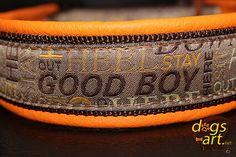 Handmade Martingale Leather Dog Collar GOOD by dogsartcollars