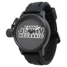 Kartenz Johny Mechanic Protector Black Wristwatch