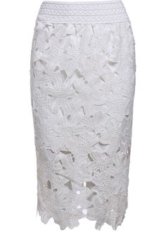 Floral Crochet Hollow Lace White Skirt 9.99