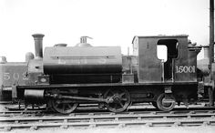 LMSR no. 15001 was a Dugald Drummond designed 0-4-2ST for the Caledonian Railway that entered CR service as its no. 1263 in August 1885 and survived until 1947. This shot was probably taken at Dawsholm shed in Glasgow.