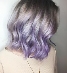 50 Lovely Purple & Lavender Hair Colors in Balayage and Ombre pastel purple hair color ideas - Hair Color Ideas Pastel Purple Hair, Lavender Hair Colors, Dyed Hair Pastel, Hair Color Purple, Purple Ombre, Colorful Hair, Purple Bob, Blonde Hair With Color, Green Hair