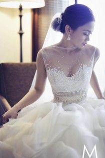 Chic Diseño especial vestido de novia