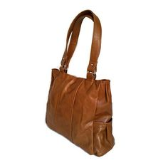 Tote bag smooth tan leather purse casual everyday medium retro style travel shoulder handbag handmade handbags and purse katty