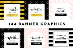 Chic Banner Graphics Collection by Bluchic on @creativemarket