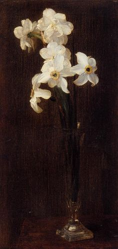 Henri Fantin-Latour. Flowers. 1871. Oil on canvas. Narcissus