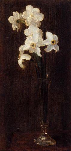 Henri Fantin-Latour. Flowers. 1871. Oil on canvas. Narcissus