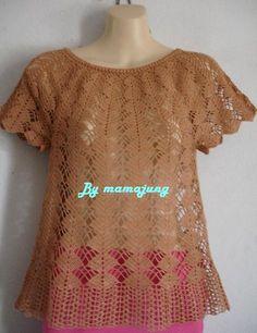 Blusas de crochet originales y con cierta dificultad.