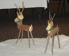There's nothing more rustic and festive looking than log reindeer