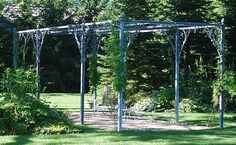 The Branch Studio manufactures garden ornament and containers in steel. It is a sister company to Detroit Garden Works. The Branch Studio Parisian pergola Curved Pergola, Retractable Pergola, White Pergola, Metal Pergola, Pergola With Roof, Pergola Lighting, Cheap Pergola, Wooden Pergola, Gardens