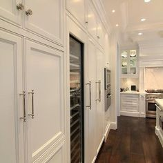 Floor to Ceiling Kitchen Cabinets - Traditional - kitchen - Prestige Mouldings & Construction.love the feeling of this kitchen. Floor To Ceiling Cabinets, Beautiful Kitchens, Home Design, Interior Design Kitchen, Design Ideas, My Dream Home, Home Kitchens, Luxury Kitchens, Kitchen Remodel