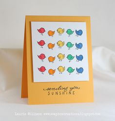 DeNami Sunshine Rainbow Birds card by @Laurie Willison