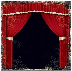 CURTAIN CALL 12x12 Scrapbooking (2) PCS Paper THEATER PERFORMANCE