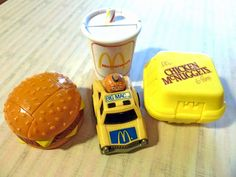 Lot of Four Vintage McDonald's Happy Meal Toys. $16.00, via Etsy.