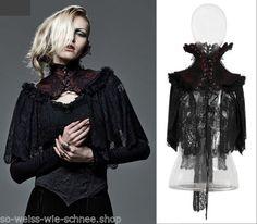 RQ-BL-Gothic-Choker-Vampire-Plush-Umhang-Barock-Kragen-Rot-Victorian-Choker-Y586