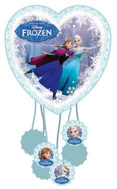 Piñata Frozen™: Esta piñata tiene licencia oficial Frozen™.Tiene forma de corazón y mide alrededor de 23x24 cm. Está compuesta de un envase de papel con dos caras de cartón con la...