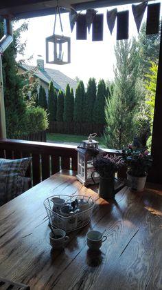 Ranná kávička na terase Patio, Outdoor Decor, Home Decor, Decoration Home, Room Decor, Home Interior Design, Home Decoration, Terrace, Interior Design